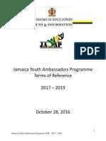 Youth Ambassadors TOR 2017-2019