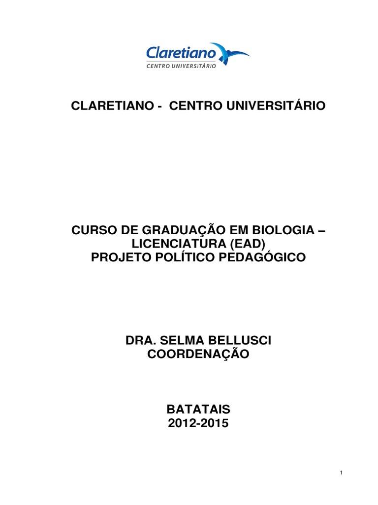 Claretiano biologia ementas fandeluxe Images