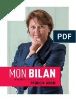 Bilan de mandat de Patricia Adam