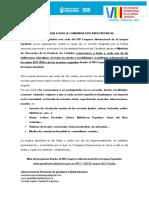 Convocatoria al VIII Congreso Internacional de la Lengua Española