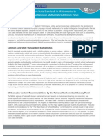 Comparing the Common Core State Standards in Mathematics to the Recommendations of the National Mathematics Advisory Panel