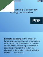 Remote Sensing & Landscape Ecology Lesson 1