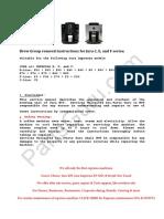 Jura C E F Guide Open Machine and Remove Brew Group WMS