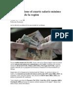 Colombia Tiene El Cuarto Salario Mínimo