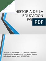 Historia de La Educaccion Especial