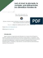 El mazo, el cincel, el nivel, la plomada, la escuadra y el compás_ sus aplicaciones filosóficas como utensilios morales de construcción _ GADU.pdf