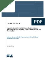 SZ-16-442-LT-008 Informe de Conexion de Poste de Transicion a Linea Existente