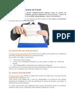 Les Clauses Du Contrat de Travail
