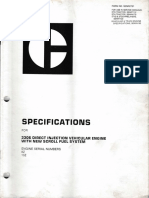 Specifications Engine 3306