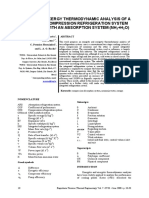 Energy and exergy thermodynamic analysis of a two-stage compression refrigeration system integrated with an absorption system (NH3+H2O).