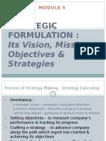 05 Strategic Formulation