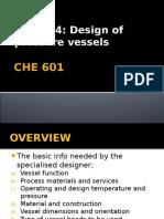 CPE 601 - Pressure Vessel