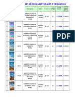 160311 l.precios Leches Líquidas Orgánicas