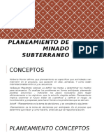 Planeamiento de Minado Subterraneo Power
