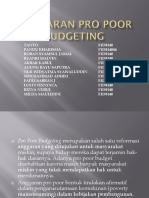 Anggaran Pro Poor Budgeting