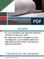 Unidad 6 Operacionalizacion de Variables
