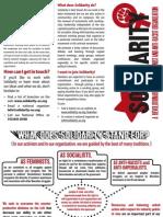 Solidarity - Tri-Fold Brochure