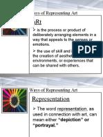 4 Ways of Representing Art
