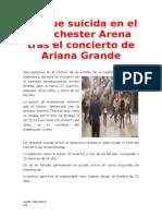Ataque Suicida en El Manchester Arena Tras El Concierto de Ariana Grande