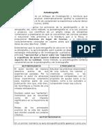 DIFERENCIAS Entre Autoetnografia, Etnografia y Autobiografia