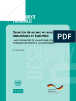CEPAL ONU GIZ Derechos de Acceso en Asuntos Ambientales en Colombia