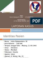 148814311 OK Laporan Kasus KOLELITIASIS Pptx
