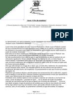 Acto y Fin de Análisis - EFBA