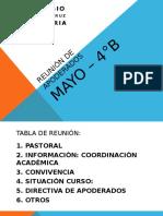Reunión de Apoderados Mayo