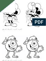 Dibujo Pintar Mickey