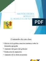 Macroeconomia Modulo 12 El Modelo is-LM Parte II