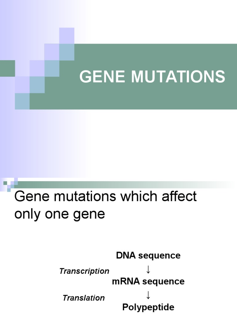 07_GENE_MUTATIONS.pptx | Genetic Code | Point Mutation