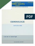Anul III Criminologie Suport de Curs