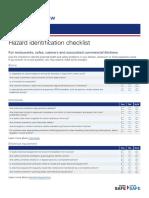 Hazard Identification Checklist