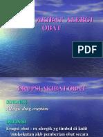Erupsi Akibat Alergi Obat