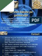Servcii bazate pe geolocatie - curs 1