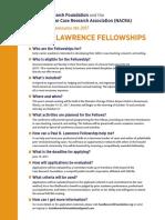 Paul R. Lawrence Fellowship 2017 Announcement