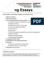 Writing Essays Extended Version