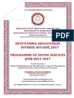 Program of Divine Services for June and July 2017