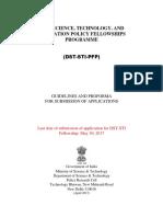 DST STI Policy Fellowships 2nd Advts 2017 0