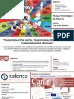 TRANSFORMACIÓN DIGITAL, TRANSFORMACIÓN ORGANIZATIVA Y TRANSFORMACIÓN PERSONAL