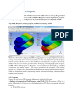 CFD Analysis projects
