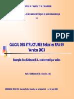 TALEB R. - CGS - JPOGC_08 - Calcul Des Structures Selon Le RPA 2003