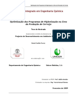 Optimização dos Programas de Higienização na Área da Produção de Cerveja