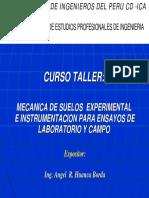 MECANICA DE SUELOS EXPERIMENTALES E INSTRUMENTALES PARA ENSAYOS DE LABORATORIO