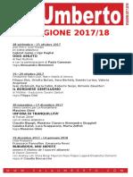 Calendario Stagione 2017-2018 SALA UMBERTO