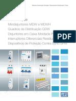 WEG Minidisjuntores Mdw Disjuntores Em Caixa Moldada Predial Dwp Interruptores Rdw e Dispositivos Spw 50009824 Catalogo Portugues Br