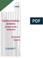 GUARESCHI, N.; Estratégias de Invenção Do Presente _ a Psicologia Social No Contemporâneo