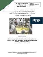 Manual de Buenas Practicas de Manufactura en La Producción de Productos de Helados