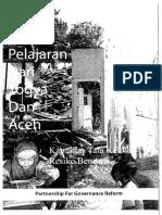 Pelajaran Dari Yogya Dan Aceh