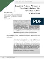 El Trazado de Políticas Públicas y La Participación Política